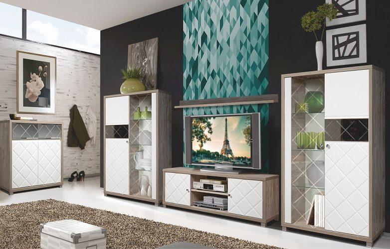 Набор мебели для жилой комнаты «Кристал» КМК 0650
