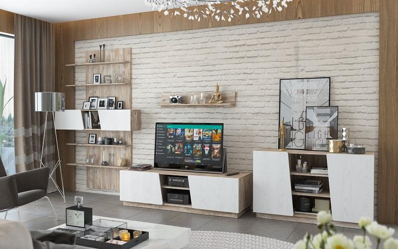 Набор мебели для жилой комнаты «Лайт»