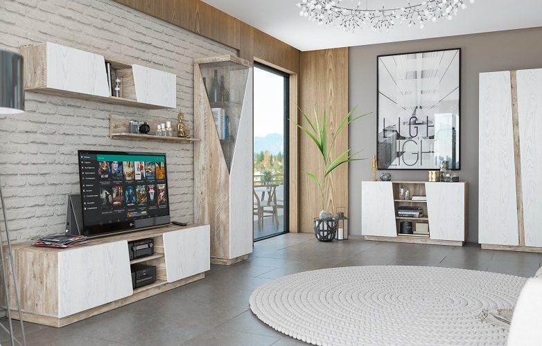 Набор мебели для жилой комнаты «Лайт» КМК 0551