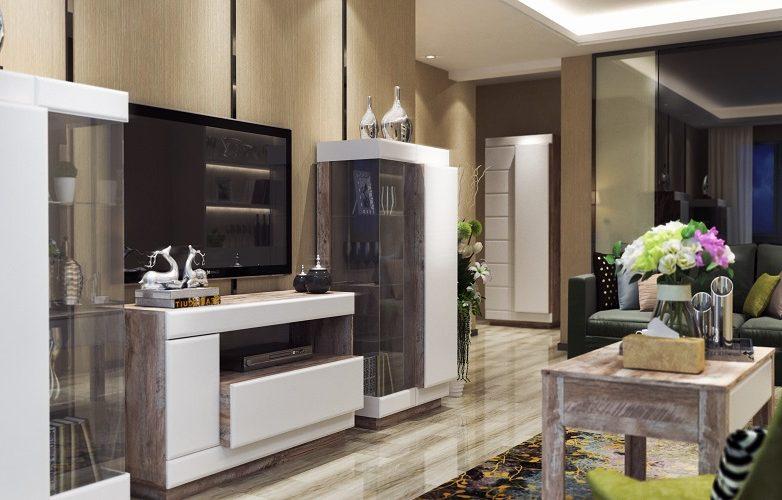 Набор мебели для жилой комнаты «Роксет» КМК 0554