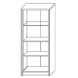 Шкаф с витриной «2Д Монако»