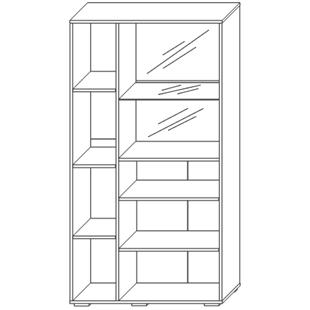 Шкаф с витриной «Л Арчи»