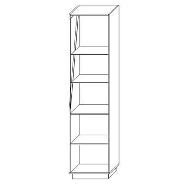 Шкаф с витриной «П Лайт»