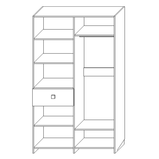 Шкаф для одежды «2Д1Я Лондон 2»