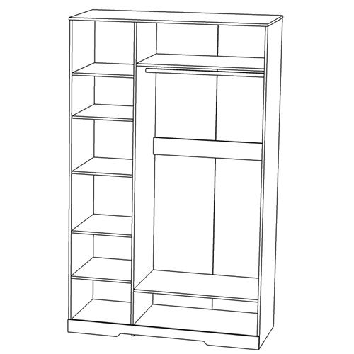 Шкаф для одежды «3Д Атланта»