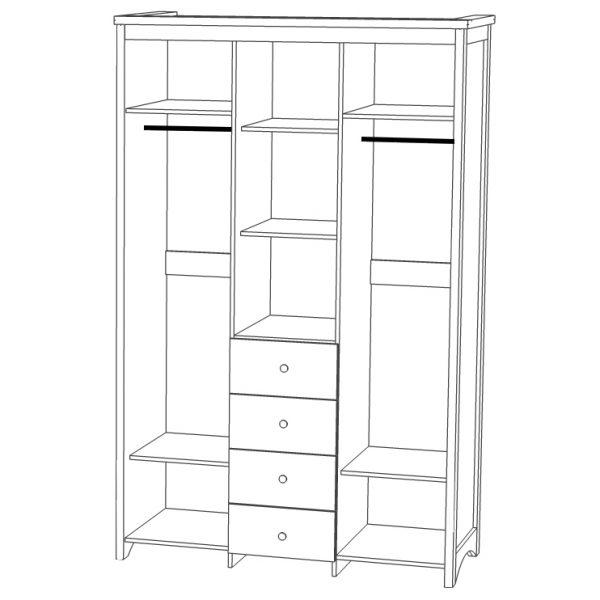 Шкаф для одежды «3Д4Я Вагнер»