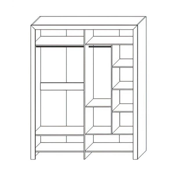Шкаф для одежды «4Д Эстель»