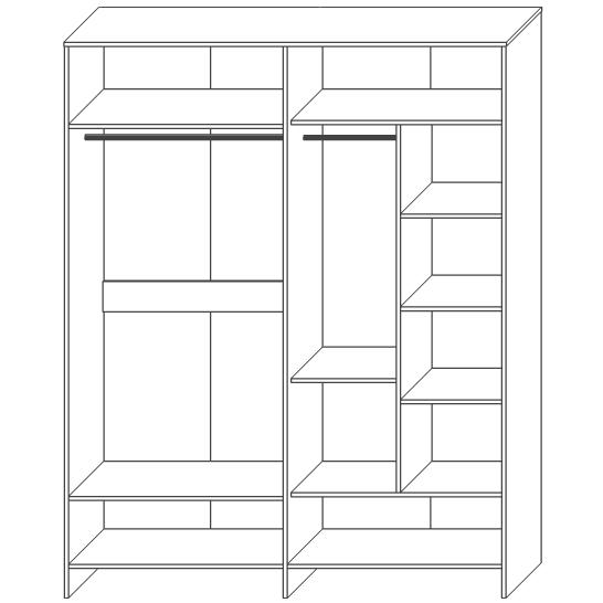 Шкаф для одежды «4Д»