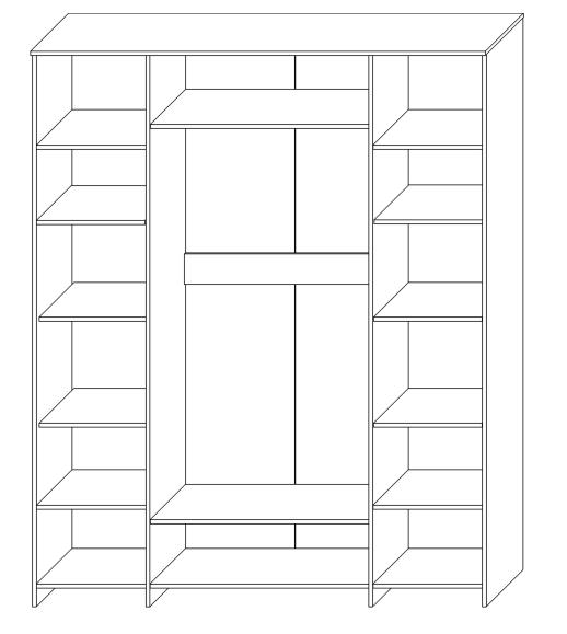 Шкаф для одежды «4Д Марсела 1»