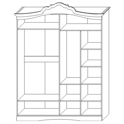 Шкаф для одежды «4Д Мелани 1»