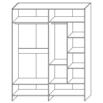 Шкаф для одежды «4Д Монтана»