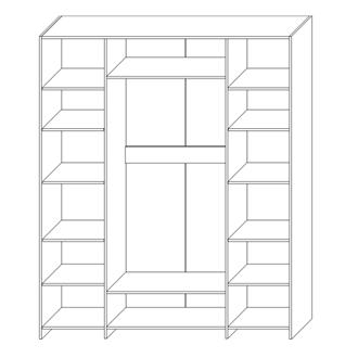 Шкаф для одежды «4Д Стефани»