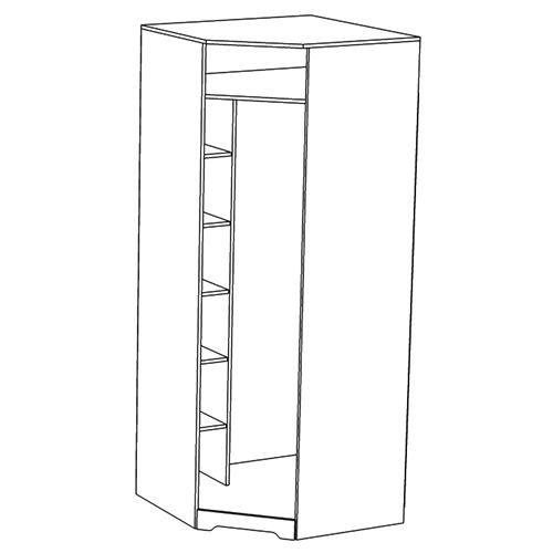 Шкаф для одежды «Атланта угловой»