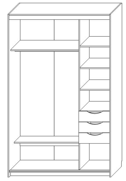 Шкаф для одежды «Магия-купе»