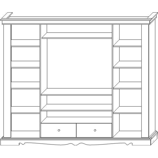 Шкаф комбинированный «Амелия»