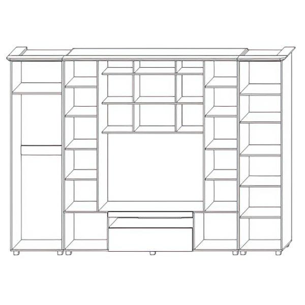 Шкаф комбинированный «Нежность 1»