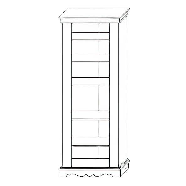 Шкаф с витриной «1Д Амелия»