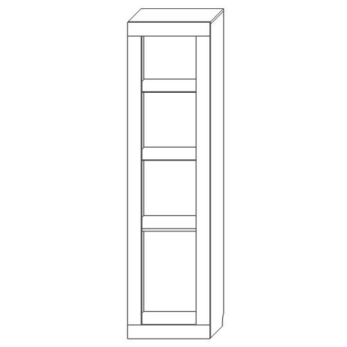 Шкаф с витриной «2Д Лондон»
