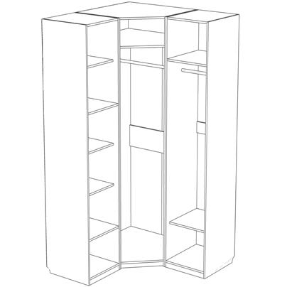 Шкаф «Жемчужина угловой»