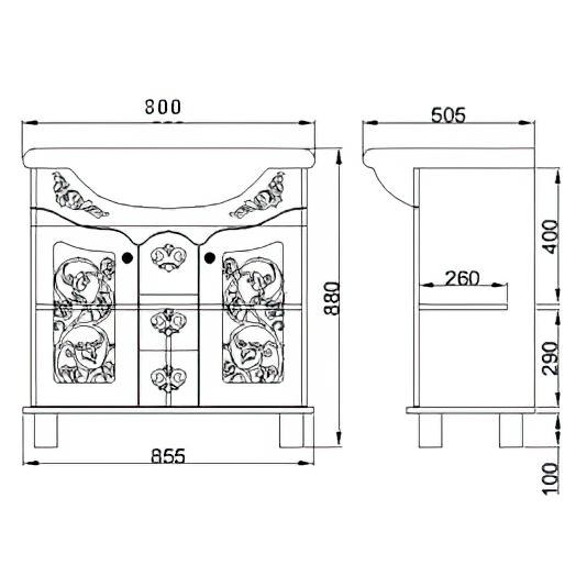 Тумба под раковину «850 Жемчужина»
